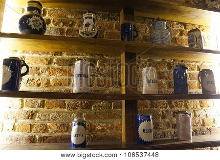 Vintage ceramic mugs for the beer