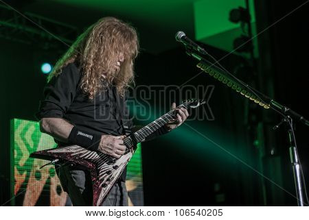 Megadeth live in Brisbane, October 2015