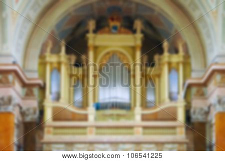Interior Of Cathedral , Blur Abstract Background