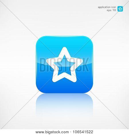 Star favorite sign web icon. Application button.