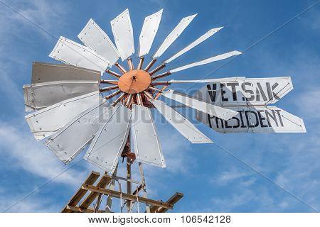 Historic Windmill In Loeriefontein