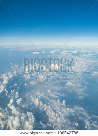 Image Of Clear Blue Sky And White Clouds On Day Time