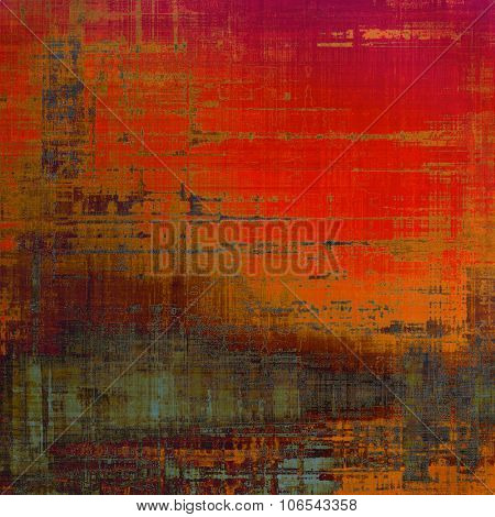 Abstract grunge background with retro design elements and different color patterns: yellow (beige); brown; gray; red (orange)