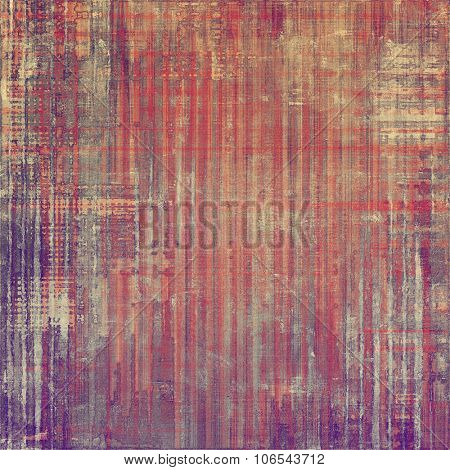 Antique vintage texture, old-fashioned weathered background. With different color patterns: brown; purple (violet); red (orange); pink