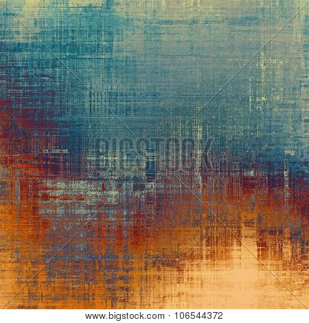 Old grunge antique texture. With different color patterns: yellow (beige); brown; blue; red (orange)