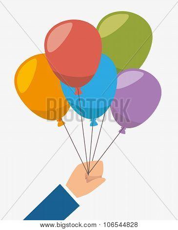 Air balloons flying
