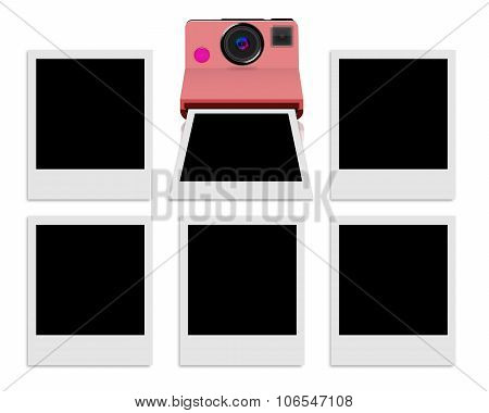 Instant camera with blank photo