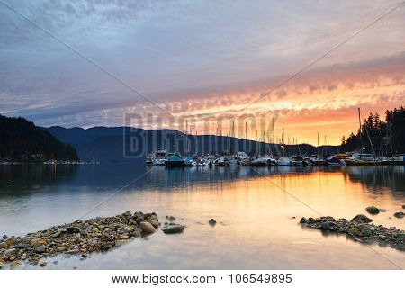 Deep Cove Cloudy Sunrise, North Vancouver