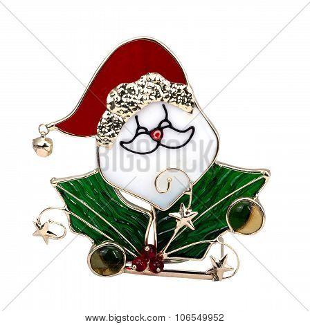 Santa Claus Glass
