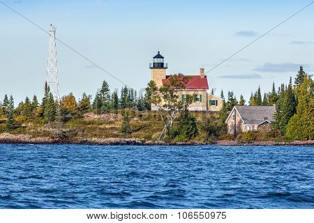 Lighthouse At Copper Harbor