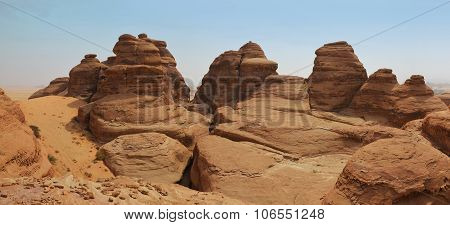 Surreal Basalt Stone Mountain Landscape