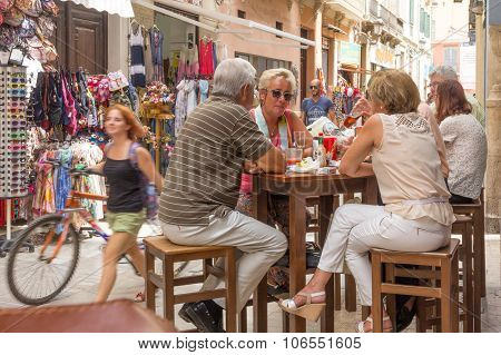 People Enjoying Lunch