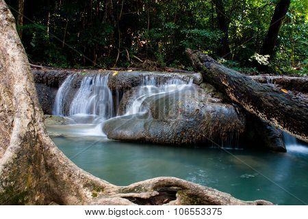Blure Waterfall Erawan Kanjanaburi In Thailand