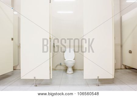 Public Toilet And Doors