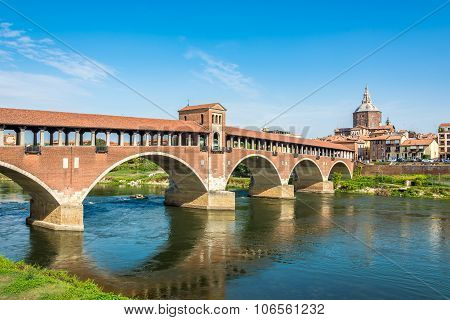 Bridge Over Ticino River In Pavia