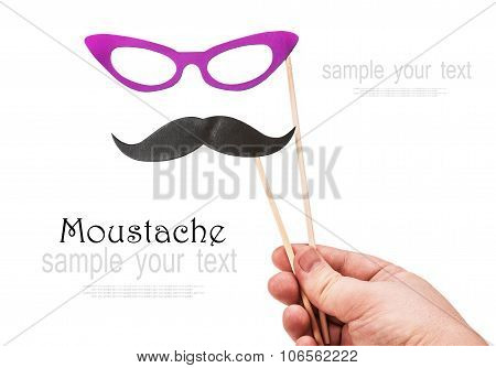 Mustache And Glasses Of Paper