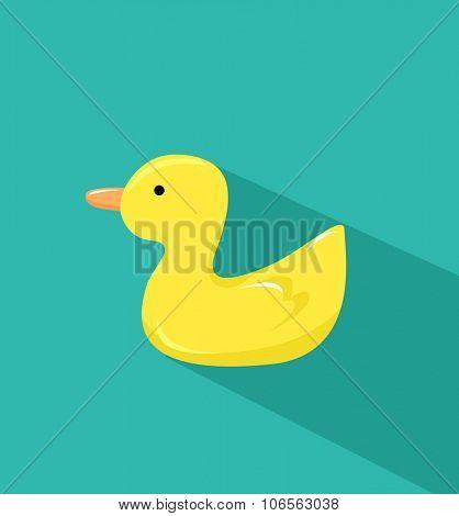 Yellow duck Vector