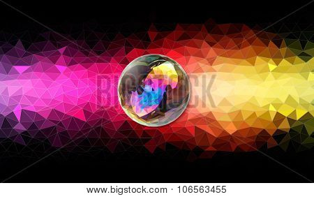 low poly background of rainbow colors