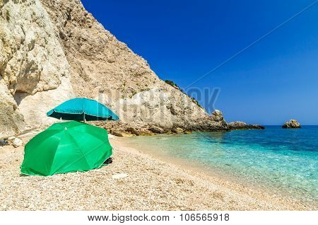 Agia Eleni Beach In Kefalonia Island, Greece