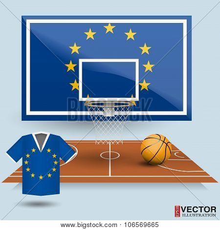 Vector Illustration Basketball Background