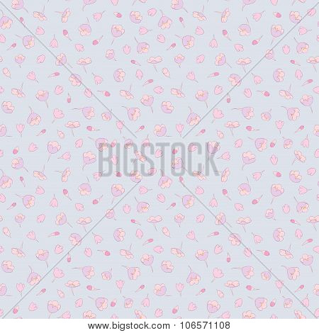 cute flowers seamless pattern. floral vector background