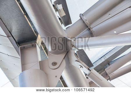 Modern Building Roof Frame Closeup
