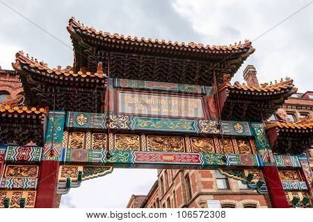 Chinese Arch in Manchester.