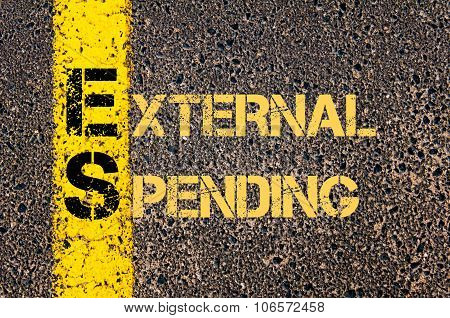 Business Acronym Es As External Spending