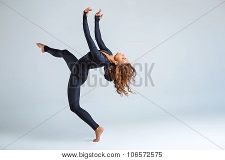 Creative concept for dancing girl