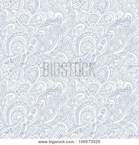 Paisley Seamless Pattern. ethnic ornament vector background
