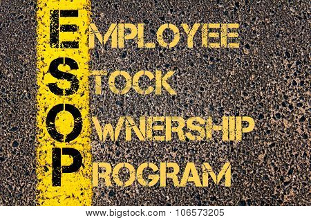 Business Acronym Esop As Employee Stock Ownership Program