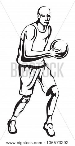 The Athlete Playing Basketball