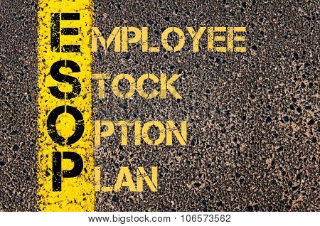 Business Acronym Esop As Employee Stock Option Plan