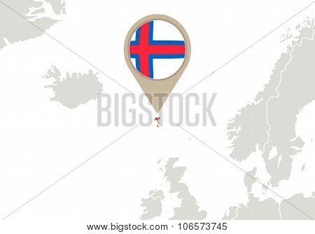 Faroe Islands On Europe Map