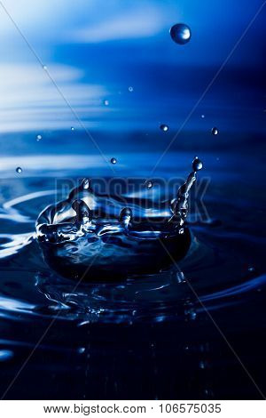 Water. Drops. Spray. Wavelets.