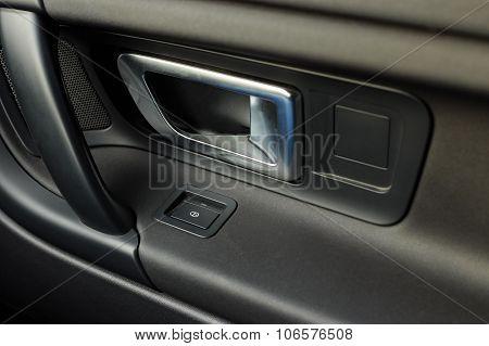 Car Door Handle With Window Control Button