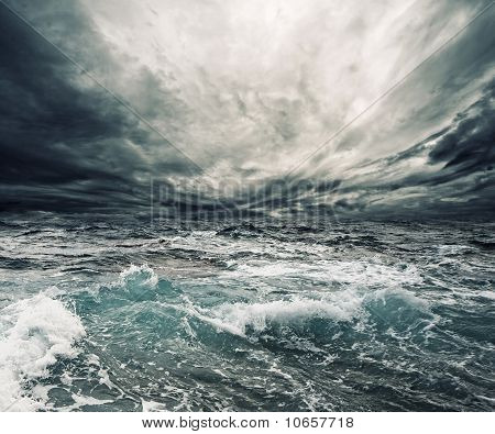 Picture of a very beautiful ocean storm