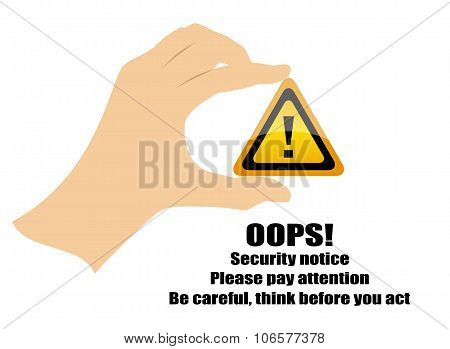 Warning security sign