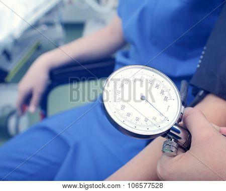 Blood Pressure Gauge In The Hospital