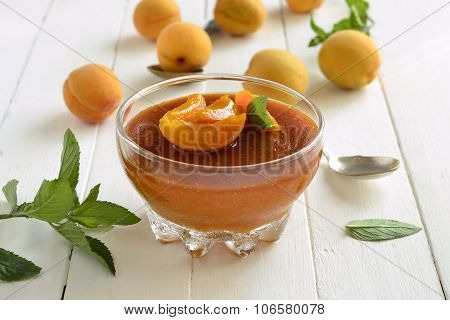Apricot panna cotta