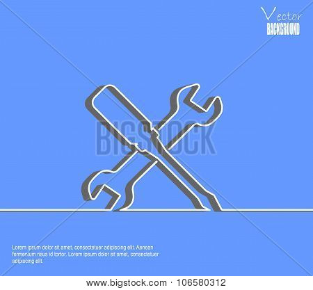 vector blue line background repair