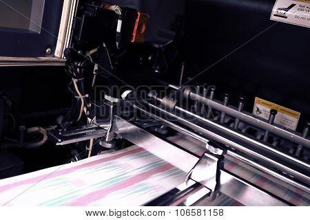 Printing Machine During Production Output