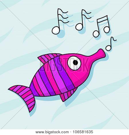 Fish Trumpet Whistling