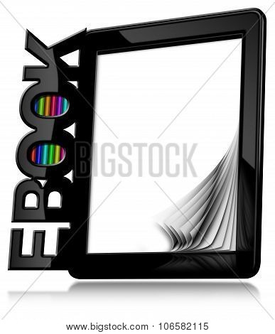 E-book Reader With Blank Pages