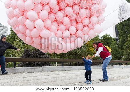 Pink Balloons Breast Cancer