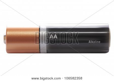 Alkaline Battery Isolated On White