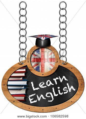 Learn English - Blackboard With Chain