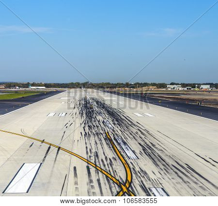 Empty Runway At The Airport