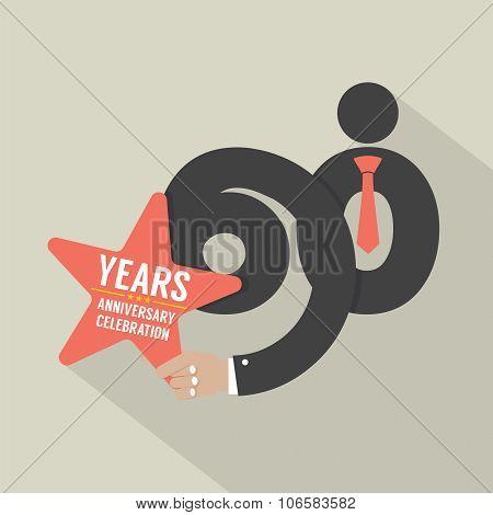 60 Years Anniversary Typography Design.
