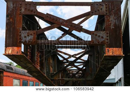 Old Rusty Steel Girder